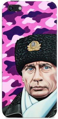 Чехол (клип-кейс) Deppa Art Case Person Путин шапка для iPhone 5 iPhone 5S розовый 100005