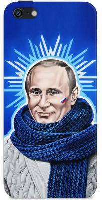 Чехол (клип-кейс) Deppa Art Case Person Путин звезда для iPhone 5 iPhone 5S синий 100006
