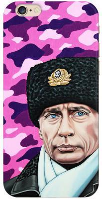 Чехол (клип-кейс) Deppa Art Case Person Путин шапка для iPhone 6 розовый 100008