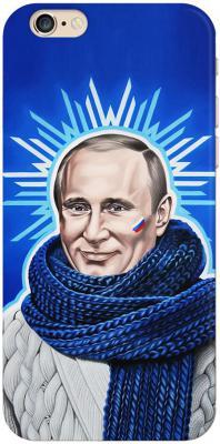 Чехол (клип-кейс) Deppa Art Case Person Путин звезда для iPhone 6 синий 100009