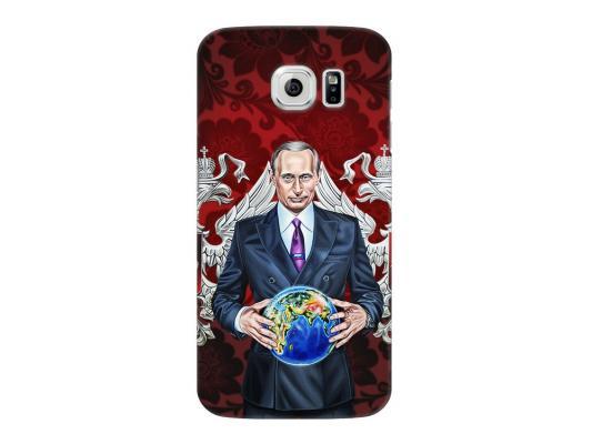 Чехол Deppa Art Case и защитная пленка для Samsung Galaxy S6, Person_Путин карта мира,