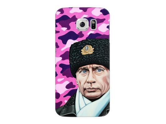 Чехол Deppa Art Case и защитная пленка для Samsung Galaxy S6, Person_Путин шапка,