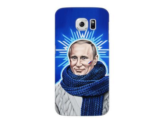 Чехол Deppa Art Case и защитная пленка для Samsung Galaxy S6, Person_Путин звезда,