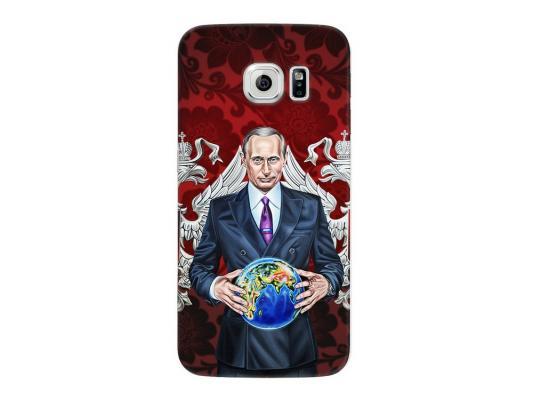 Чехол Deppa Art Case и защитная пленка для Samsung Galaxy S6 edge, Person_Путин карта мира, чехол deppa art case и защитная пленка для samsung galaxy s6 edge патриот флаг