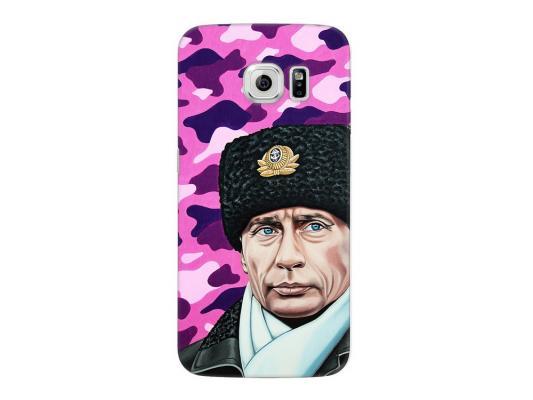 Чехол Deppa Art Case и защитная пленка для Samsung Galaxy S6 edge, Person_Путин шапка, чехол deppa art case и защитная пленка для samsung galaxy s6 edge танки арту не видали