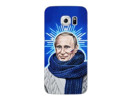 Чехол Deppa Art Case и защитная пленка для Samsung Galaxy S6 edge, Person_Путин звезда, чехол deppa air case для samsung galaxy s6 edge красный 83187