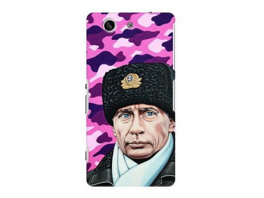 Чехол Deppa Art Case и защитная пленка для Sony Xperia Z3 Compact, Person_Путин шапка,