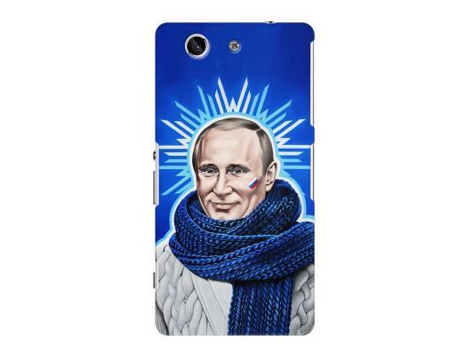 Чехол Deppa Art Case и защитная пленка для Sony Xperia Z3 Compact, Person_Путин звезда,