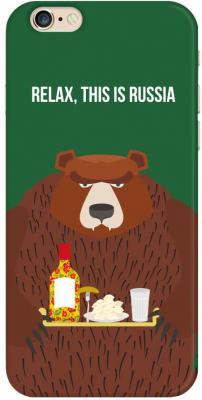 Чехол (клип-кейс) Deppa Art Case Патриот Медведь для iPhone 6 зеленый 100309