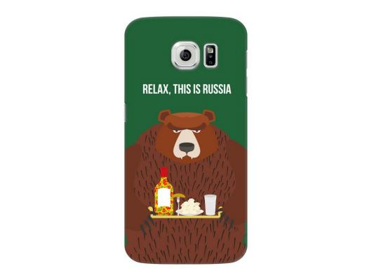 Чехол Deppa Art Case и защитная пленка для Samsung Galaxy S6, Патриот_Медведь,