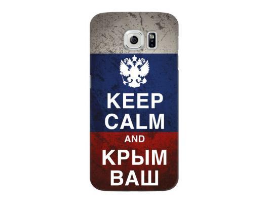 Чехол Deppa Art Case и защитная пленка для Samsung Galaxy S6, Патриот_Крым ваш,