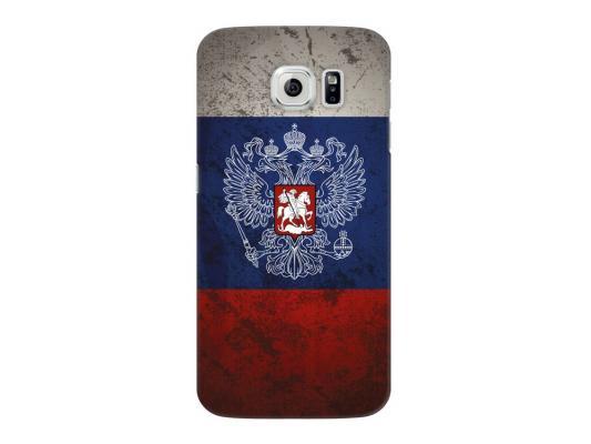 Чехол Deppa Art Case и защитная пленка для Samsung Galaxy S6, Патриот_Флаг, пленка