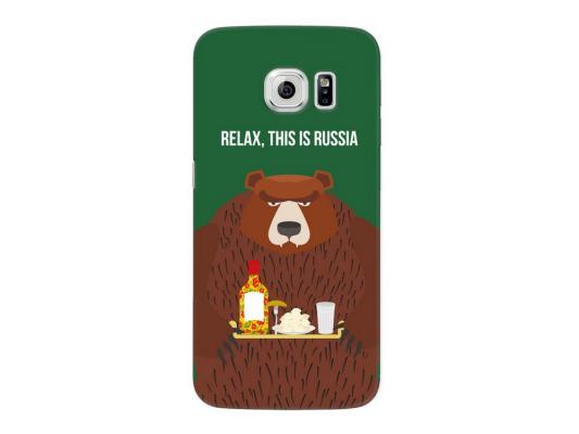 Чехол Deppa Art Case и защитная пленка для Samsung Galaxy S6 edge, Патриот_Медведь,