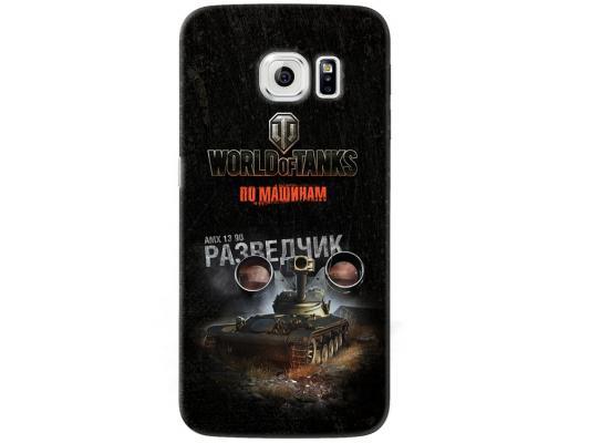 Чехол Deppa Art Case и защитная пленка для Samsung Galaxy S6 edge, Танки_Разведчик,