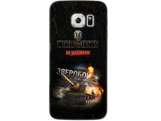 Чехол Deppa Art Case и защитная пленка для Samsung Galaxy S6 edge, Танки_Зверобой,