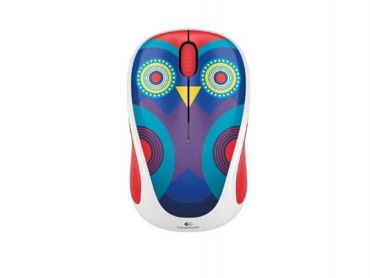 Купить Мышь Logitech M238 Ophelia Owl белый с рисунком USB 910-004474