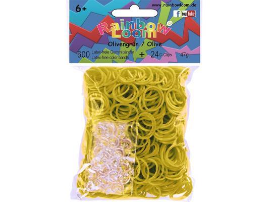 Резинки для плетения Rainbow Loom Оливковый 20907 от 6 лет 600 шт наборы для поделок loom bands резинки для плетения