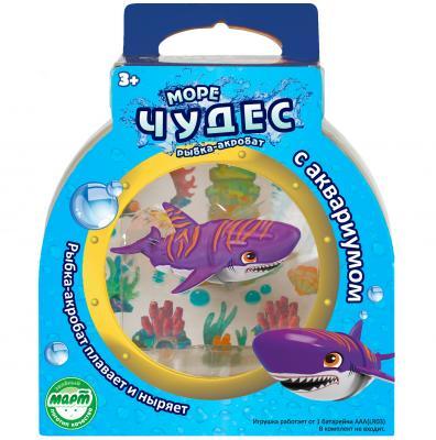 Интерактивная игрушка Redwood Акула-Акробат Тайгер с Аквариумом от 3 лет фиолетовый 159025 интерактивная игрушка redwood акула акробат тайгер с аквариумом от 3 лет фиолетовый 159025