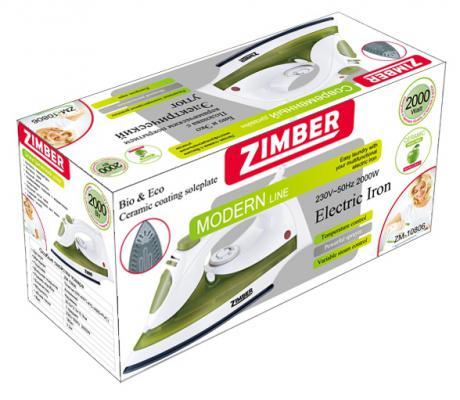 Утюг Zimber ZM-10806 2000Вт зеленый