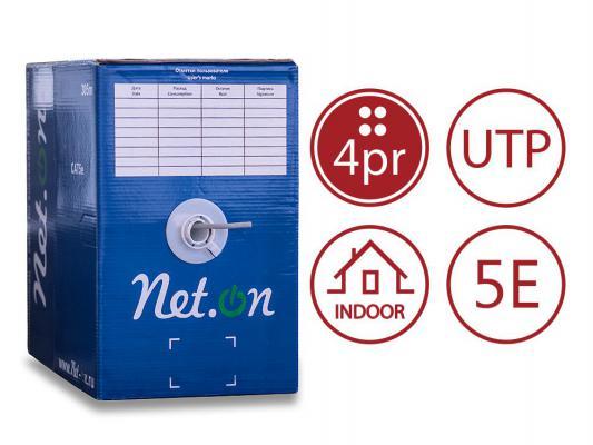 Кабель UTP outdoor 4 пары категория 5e Net.on 4x2хAWG24 CCA PE 305м