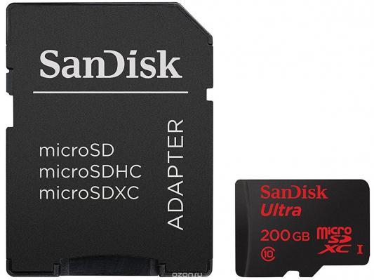 Карта памяти Micro SDXC 200Gb Class 10 Sandisk SDSDQUAN-200G-G4A + адаптер