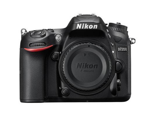 Зеркальная фотокамера Nikon D7200 BODY 24.2Mp черный без объектива VBA450AE meike vertical battery grip for nikon d7100 d7200 as mb d15 2 en el15 dual charger