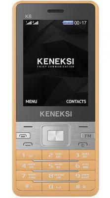 """Мобильный телефон KENEKSI K8 золотистый 2.4"""""""