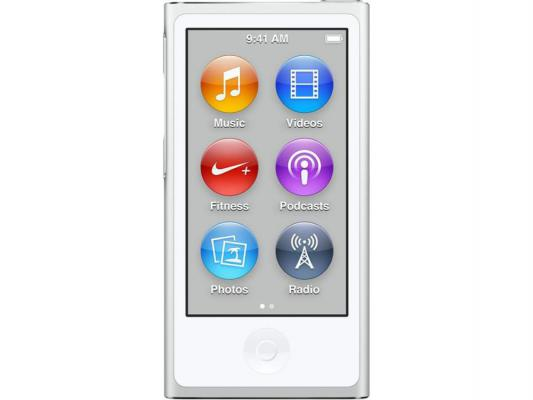 Плеер Apple iPod Nano 16Gb MKN22RU/A серебристый apple ipod nano chromatic 4g 8gb