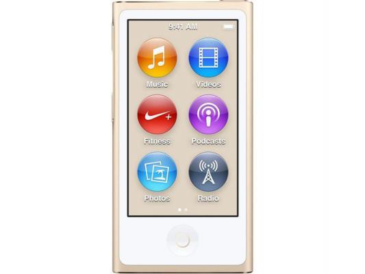 Плеер Apple iPod Nano 16Gb MKMX2RU/A золотистый