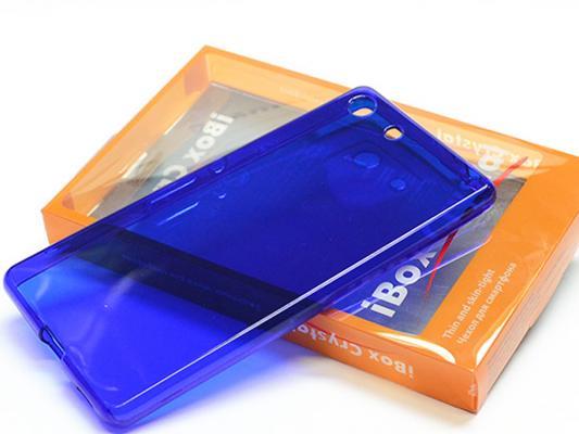 Чехол силикон iBox Crystal для Sony Xperia C5 Ultra (синий)