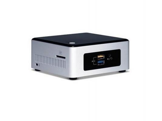 Неттоп-платформа Intel BOXNUC5PPYH N3700 1.6GHz 1xDDR3 SATA Intel HD Bluetooth Wi-Fi GbLAN 4xUSB 3.0 HDMI VGA серебристо-черный BOXNUC5PPYH 943203