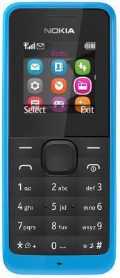 """Мобильный телефон NOKIA 105 Dual Sim бирюзовый 1.4"""" 8 Мб"""