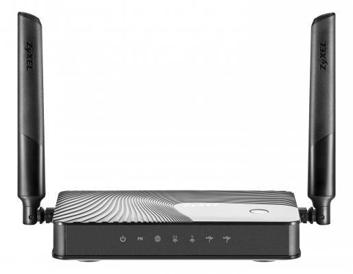 Маршрутизатор Zyxel Keenetic Ultra II 802.11aс 1167Mbps 5 ГГц 2.4 ГГц 7xLAN USB черный беспроводной маршрутизатор zyxel keenetic omni ii 802 11n 300мбит с 2 4ггц 4xlan wan usb