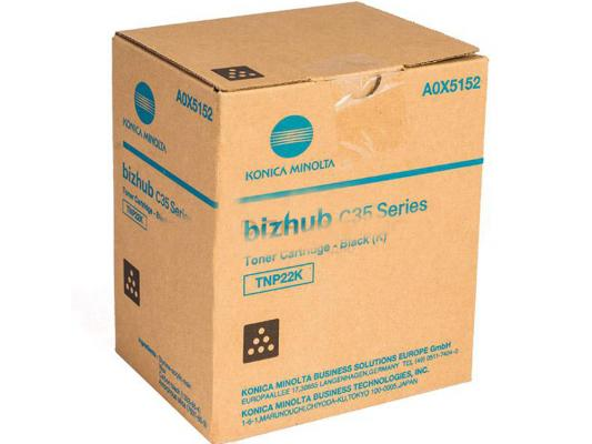 Картридж Konica Minolta TNP-22K для bizhub C35p черный 6000стр картридж konica minolta tn 116 для bizhub 164 165 185 черный