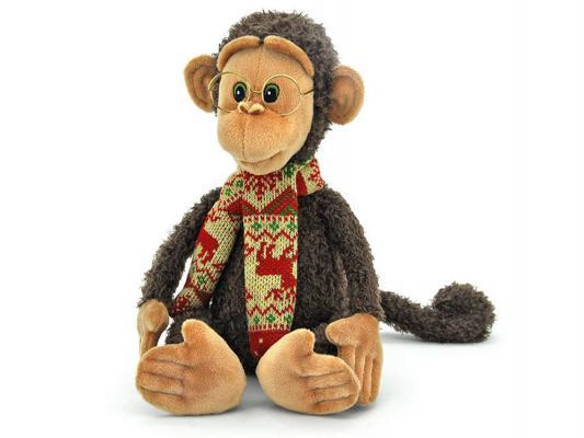 Мягкая игрушка обезьянка ОРАНЖ Мягкая игрушка Обезьяна Гоша искусственный мех коричневый 37 см