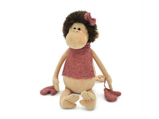 Купить Мягкая игрушка обезьянка ОРАНЖ Мягкая игрушка Оранж Обезьяна Жози, 18 см. искусственный мех бежевый