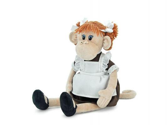 Мягкая игрушка обезьянка ОРАНЖ Наташка искусственный мех текстиль бежевый 23 см ОS102/23