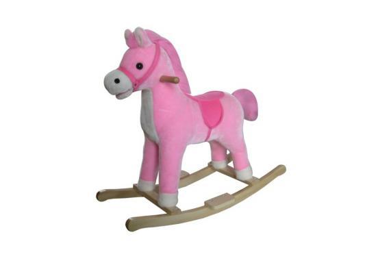 Качалка Shantou Gepai Лошадка розовый от 1 года дерево 61056 лошадка скакалка shantou gepai лошадка с колесиками коричневый от 3 лет плюш