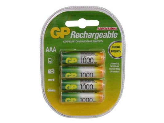 Аккумулятор 1000 мАч GP 100AAAHC-2DECRC4 AAA 4 шт аккумулятор aaa gp r03 1000 mah ni mh 2 штуки 100aaahc uc2 gp100aaahc bc2pet g 100aaahc 2cr2
