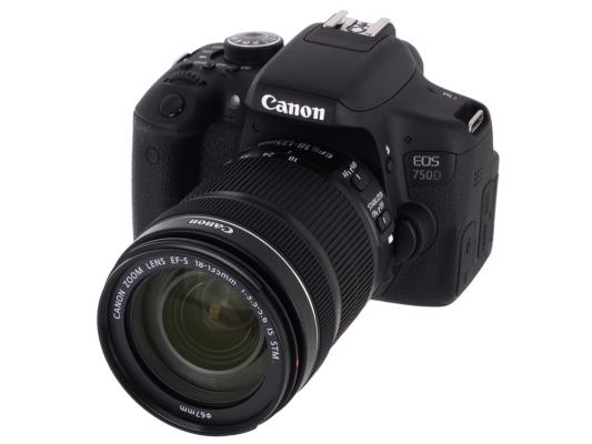 Зеркальная фотокамера Canon EOS 750D 18-135 IS STM 24Mp черный 0592C009 цена