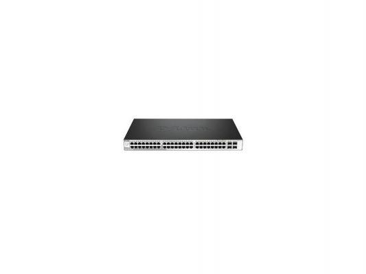 Коммутатор D-LINK DGS-1210-52MP/ME/A1A управляемый 48 портов 10/100/1000Mbps + 4 порта SFP коммутатор d link dgs 1210 52 c1a управляемый 48 портов 10 100 1000mbps 4 порта sfp
