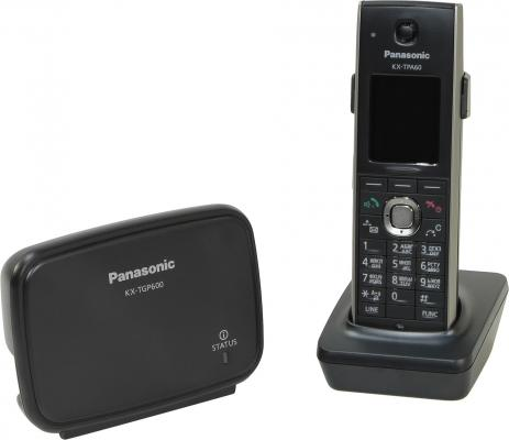 Радиотелефон DECT Panasonic KX-TGP600RUB черный телефон ip dect panasonic kx tgp600rub sip цифр ip телефон voip ethernet upto 8 hset line память 500 звук hd