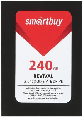 Твердотельный накопитель SSD 2.5 240GB Smartbuy Revival 525Mb/s Write 500Mb/s SB240GB-RVVL-25SAT3 240gb smartbuy revival sb240gb rvvl 25sat3 sata3 2 5