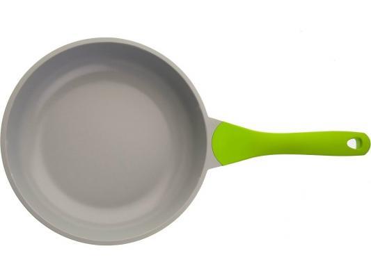 Сковорода BIOSTAL Bio-FP-28 28 см алюминий салат/серый