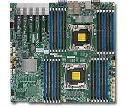 Мат. плата для ПК Supermicro MBD-X10DRI-T4+-O 2 х Socket 2011-3 C612 24xDDR4 2xPCI-E 16x 4xPCI-E 8x 10xSATAIII EATX Retail