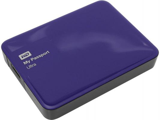 Внешний жесткий диск 2.5 USB3.0 3 Tb Western Digital My Passport Ultra WDBNFV0030BBL-EEUE синий