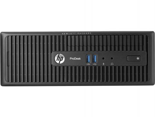 Системный блок HP ProDesk 400 i5-4590S 3.0GHz 4Gb 500Gb HD4600 DVD-RW Win7Pro Win10 клавиатура мышь черный M3X13EA