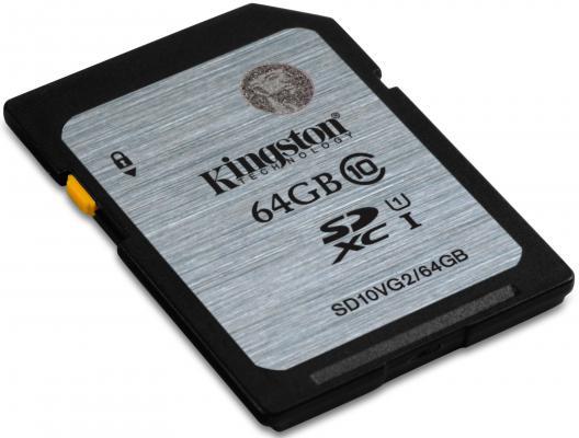 Карта памяти SDXC 64GB Class 10 Kingston SD10V/64GB/SD10VG2