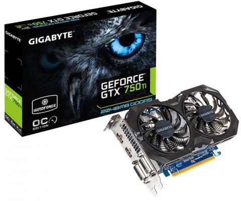 Видеокарта 2048Mb Gigabyte GeForce GTX750Ti PCI-E GDDR5 128bit DVI HDMIх2 HDCP GV-N75TOC2-2GI Retail