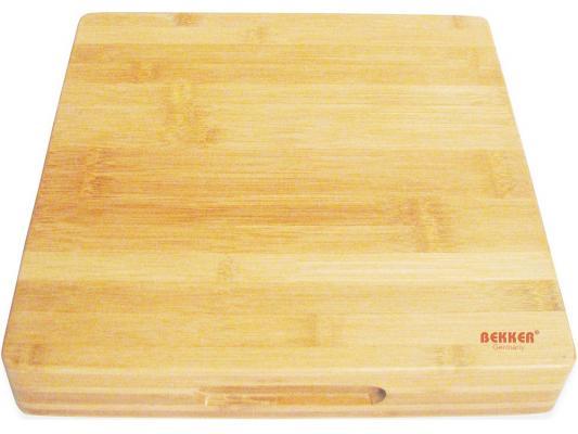 Доска разделочная Bekker BK-9722 30х30x5 бамбук доска разделочная бамбук 37х16х2см bekker bk 9719